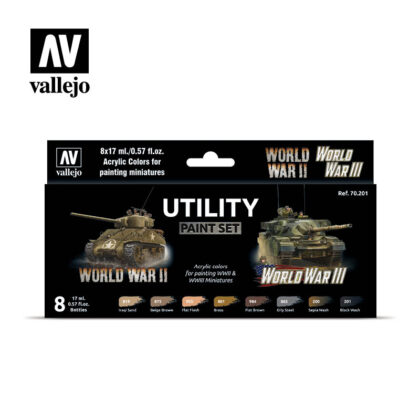 Utility Paint Set WWII & WWIII Vallejo Wargames Flames of War 70.201 Front
