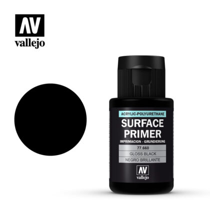 Vallejo Surface Primer Gloss Black 77.660 32 ml