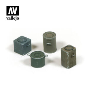 Vallejo Scenics Diorama Accessories  WWII German Food Containers SC224