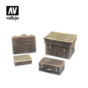 Vallejo Scenics Diorama Accessories Wicker Suitcases SC227